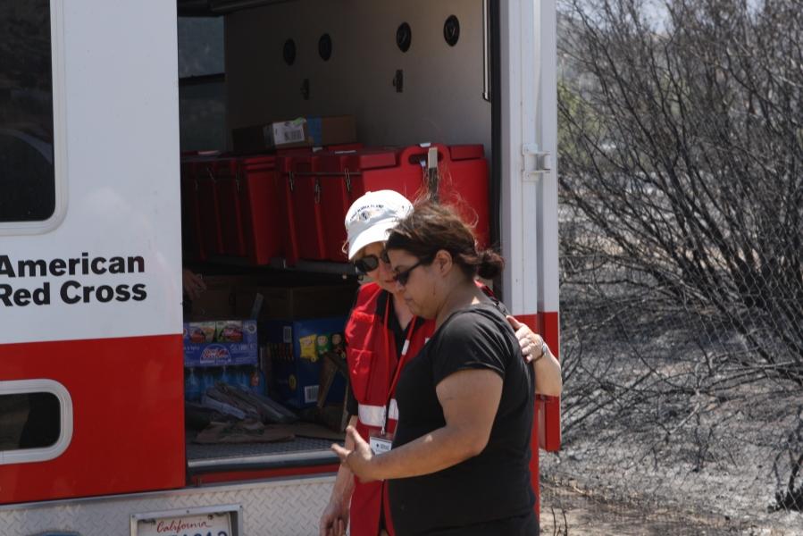 Volunteer Denise Van Ness with Client Tiana Bowerman