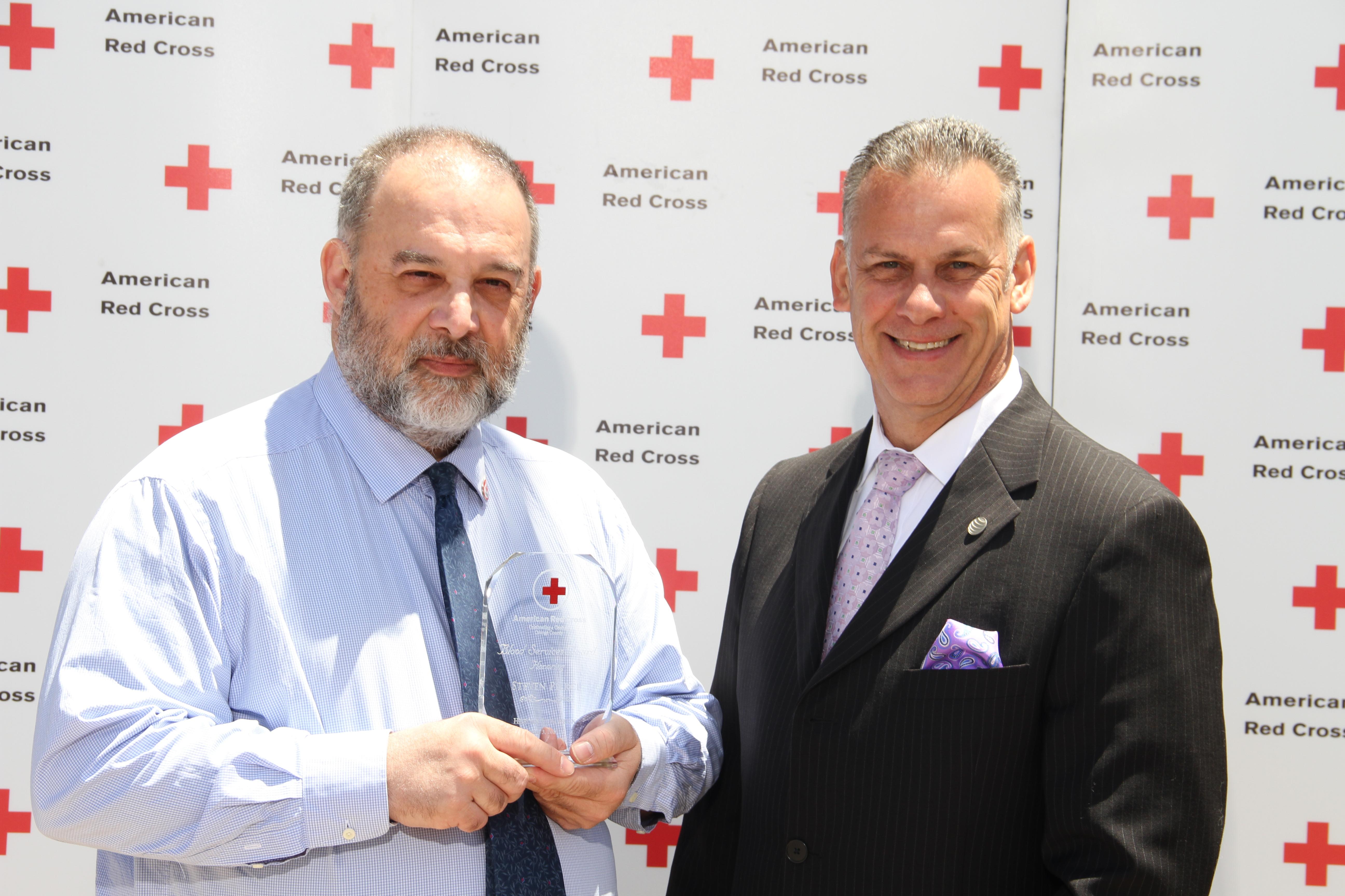 Blood Services Award winner Steven Pierce